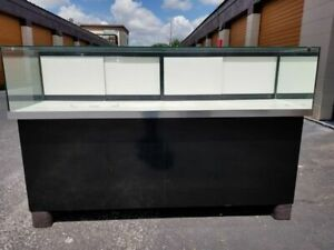 Huge Glass Display Cases 90 X 30 Or 60 X 30 W Back Storage Shelves
