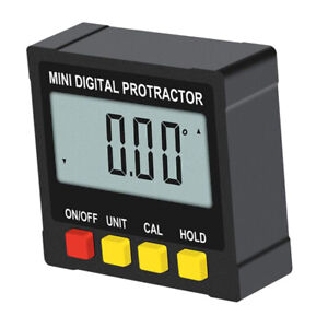 Digital Angle Finder Protractor Inclinometer With Lcd Display Tools