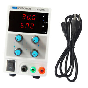 Adjustable 3 digit Dc Power Supply Variable 0 5a 0 30v W Cable Us Plug
