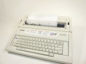 Brother Ax 250 Electronic Typewriter W test Page