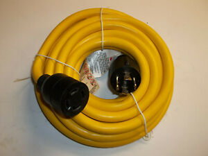 25 Ft Generator Extension Cord 4 Prong Power Cable 10 4 30 Amp Adapter Plug New