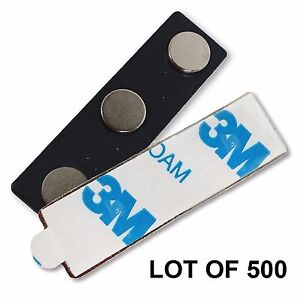 Magnet Name Tag Badge Pin 3 pole Magnet With 3m Adhesive Lot Of 500 map3 500