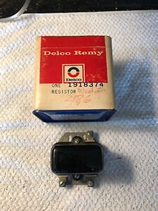 Nos Delco Remy 1918374 Ignition Coil Resistor Oem Studebaker Car Truck Tractor