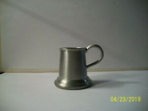Antique 1900 1920s Miniature Stein Mug English Pewter Bpc Made In Sheffield