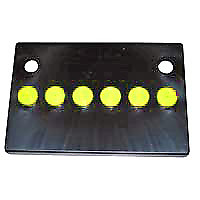 Mopar Battery Cover With Yellow Caps For 1966 1974 Chrysler Models Yr1 Mbc24yel