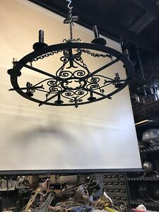 Vintage Iron Ceiling Chandelier Gothic Style Large 33 2 Available