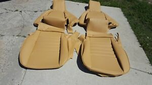 Porsche 911 951 964 968 85 94 Seat Kit 100 Leather Upholstery Champagne New