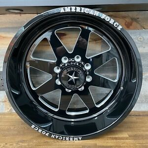 American Force Decoy Ss8 Black Machined 22x10 Wheels Ford Superduty F250 F350