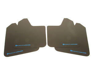 Rally Armor Universal Basic Mud Flaps Black With Blue Logo Car truck suv All New