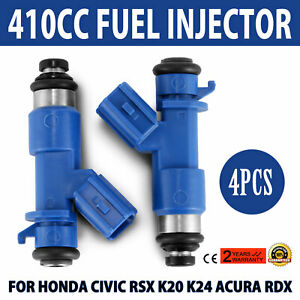Oem 4x Fuel Injectors16450 Rwc A01 Fit Honda Civic Integra Rsx Acura Rdx Use