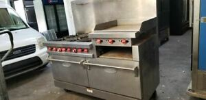 Vulcan 6 Burner 24 Raised Griddle With 2 Standard Ovens 260l Series