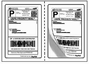 Perforated Mailing Shipping Label 8 5 X 5 5 Half Sheet Adhesive Paypal Fedex
