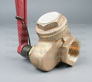 Oil Control Valve For In Ground Auto Lifts
