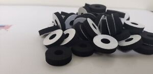 Washers Closed Cell Sponge 10 Pcs 1 4 X 1 Od X 1 4 Id Adhesive One Side