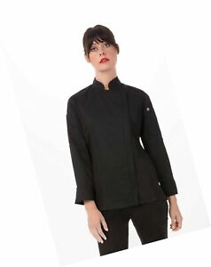 Chef Works Women s Hartford Chef Coat Black Small