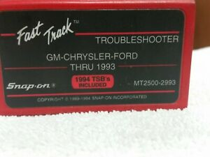 Snap on Fast Track Troubleshooter Mt2500 2993 Gm Chrysler Ford Thru 1993