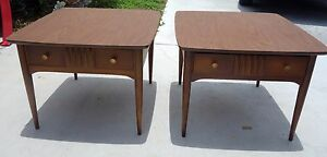 Mid Century Modern End Tables Or Night Stands Danish Modern Bassett Furn