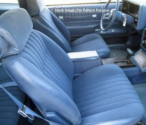 1984 Chevrolet Monte Carlo Bucket Front Seat Cover Pair