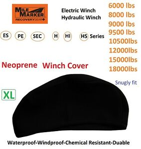 Milemarker Winch Neoprene Cover Snugly Fit 6000 8000 9000 12000 18000lbs Xl 04