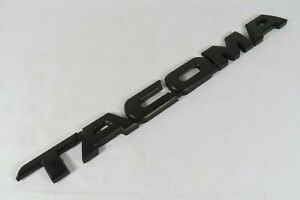 Toyota Tacoma Emblem 05 15 Front Door Rear Tailgate Black Badge Sign Symbol Logo