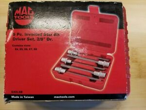 Mac Tools 5 Pc 3 8 Drive Long Inverted Torx Set