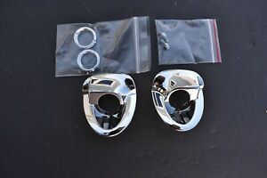1955 1956 55 56 Chevy Windshield Wiper Chrome Escutcheon Bezels Nuts