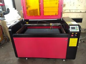 Reci 130w Co2 Laser Cutter Engraving Machine 5200 Chiller 80mm Rotary Axis