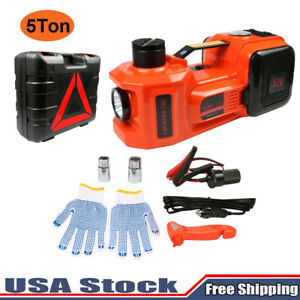 12v Dc 5t 11023lb Electric Hydraulic Floor Jack 3in1 Safe Hammer