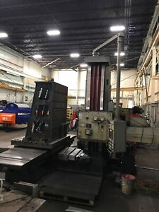 Used Wmw Union 4 Horizontal Boring Mill Bar Hbm Bmt 105 Manual With Readout