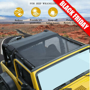 Mesh Shade Bikini Top Uv Protection Sunshade Cover Fit Jeep Wrangler Tj 1997 Fits More Than One Vehicle