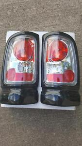 Auto Parts 1994 99 Dodge Ram Rear Taillight Lamps Pair Free Shipping