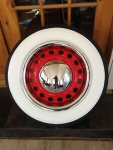 4x 15 Wide Big Whitewall Tyre Trim Vw Beetle Ford Chevy Free Worldwide Carriage
