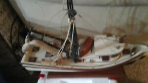 Shrimp Boat Model Hand Made
