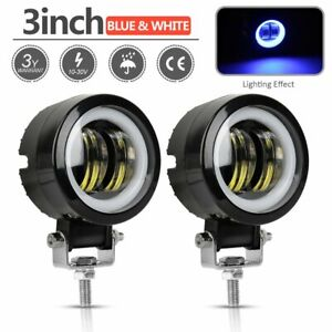 3 Inch 40w Cree Led Spot Round Work Lights Driving Pods Offroad Motorcycle Pair