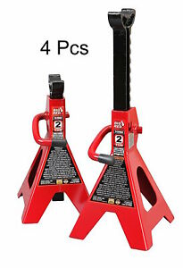 Torin Jack 2 Ton Vehicle Support 17 High Lift Stand Garage Auto Tool Set 4 Pack