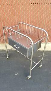 Wilson Affiliated Hospital Products Stainless Steel Bassinet Cart W Drawer