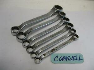 Cornwell Tools 3 8 To 13 16in Short Box Wrenches Bw 1214 s To Bw 2226 s Usa