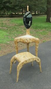 R Y Augousti Paris French Modern Vanity Dressing Table Stool W Shagreen