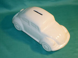 Vintage Money Box Vw Volkswagen Kdf Bug Split Oval Beetle