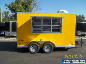 2019 Look 7 X 12 Concession Trailer Finished W Ac And Electric Vending Cargo