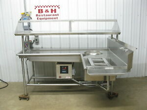Stainless Steel Left Soilded Dirty Dish Machine Table W Salvajor 300 Disposal