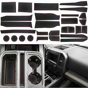 2017 2019 Ford F 150 Custom Fit Cup Holder And Door Liner Accessories F150 28 Pc