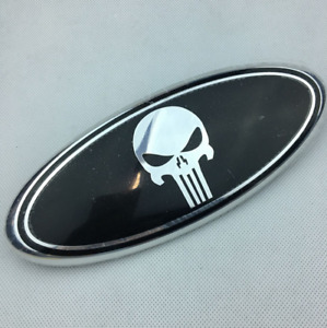 New 9 Punisher Hood Grille Tailgate Oval Emblem For Ford F150 F250 Edge Exploer