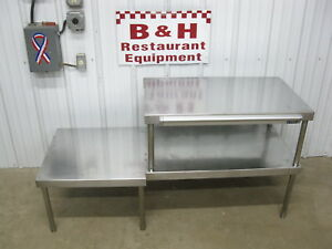 60 Stainless Steel Heavy Duty Table Top Double Over Shelf Plate Rack 5