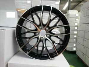 19 M Performance Mesh Style Black Machine Wheels Rims Fits Bmw 325 328 330 335