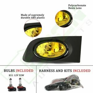 With Clear Lens Replace Fog Light For 2001 2003 Honda Civic 2 4 Dr