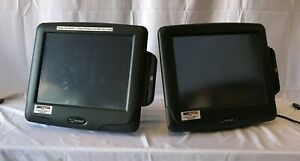 2 X Radiant Systems P1515 0008 ba Touchscreen Pos System W Credit Card Swipe