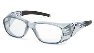 Pyramex Emerge Plus Clear Full Reader Gray Frame Reading Safety Glasses Z87