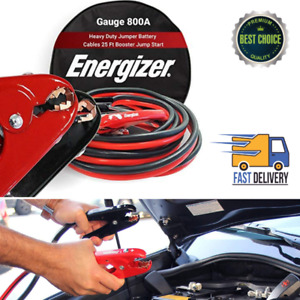 1 Gauge Jumper Cable 800a Battery 25 Ft Cables Booster Jump Start 25 Travel Bag