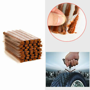 50pcs Tire Repair Plugs Tubeless Seal Patch Tyre Rubber Strips Self Vulcanizing